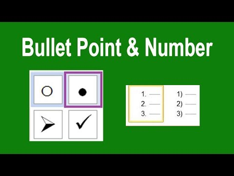 PPT Tutorial- How to add Bullet Point and Number in Microsoft PowerPoint Document 2017