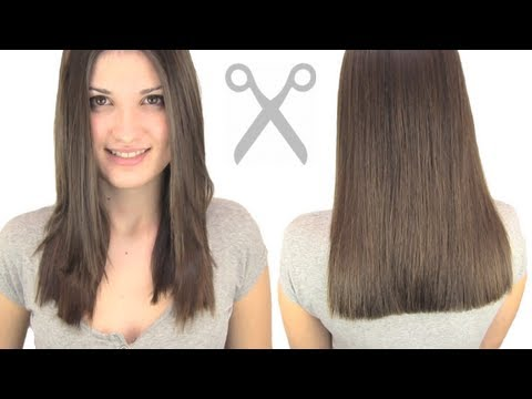 how to cut hair straight