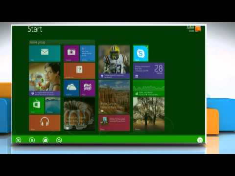 Make Skype® tile size smaller and larger in Start screen on a Windows® 8.1 PC