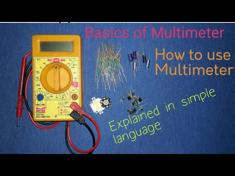 How to use Multimeter | How to measure current gain of Transister | Kapsetech