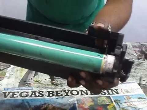 How to refill hp 55a toner
