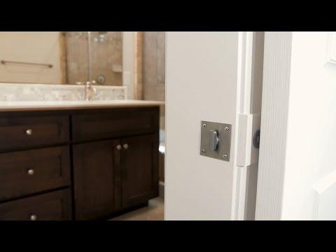 INOX: Privacy Barn Door Lock