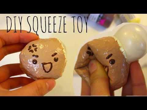 Making squishies with slime!