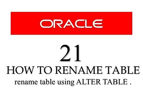 SQL tutorial 21: How To Rename Table in SQL using ALTER TABLE statement By Manish Sharma
