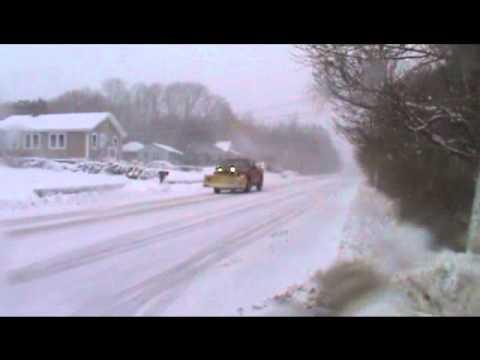 plow truck plowing