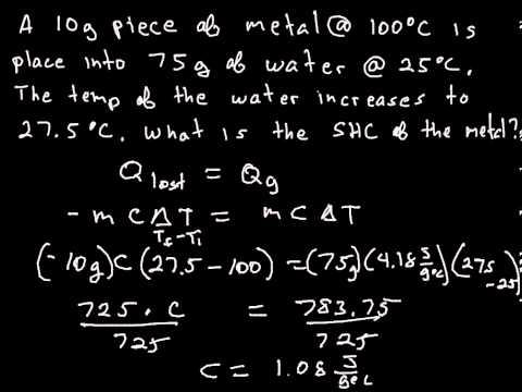Energetics 3 Q lost = Q gained