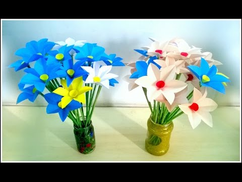 How to Make Daffodil Flower by Paper