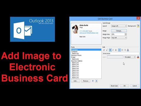 Add Image to Electronic Business Card in Microsoft® Outlook 2013