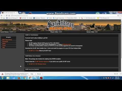 cara download gta samp/online