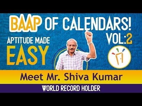 Aptitude Made Easy - Crack any Calendar problem by Mr. Shiva Kumar, Volume-2