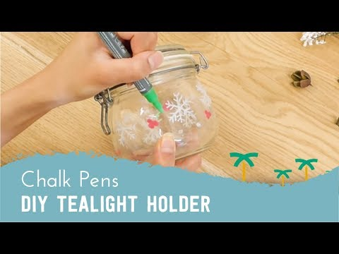 DIY Christmas Tealight Holder with Chalk Pens | Stationery Island