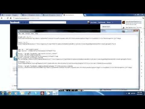 Facebook fan page access token