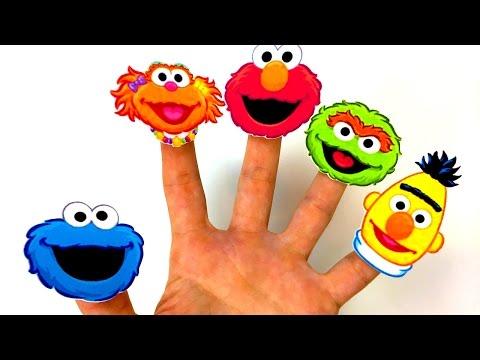 Sesame Street Family Finger Sing along SONG Daddy Finger Elmo Cookie Monster Zoe