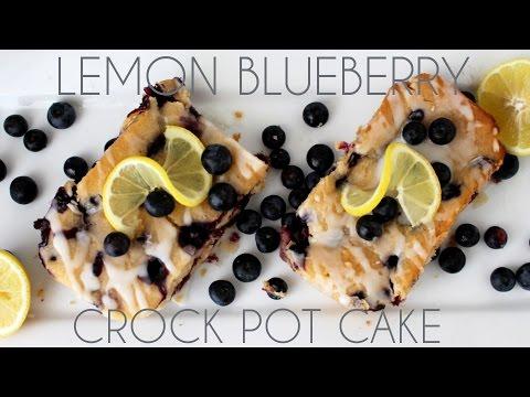 Mini Lemon Blueberry Crock Pot Cakes