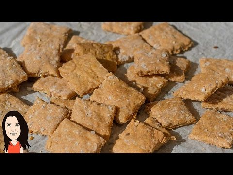 Make Your Own Golden Flax Seed Crackers - Easy Vegan Baking Recipe!