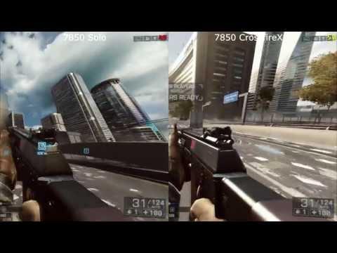 Final Battlefield 4 Beta AMD HD 7850 Solo v Crossfire 4xMSAA Ultra 1080p Benchmark