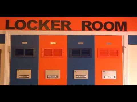Basketball Locker Room Closet Door Makeover