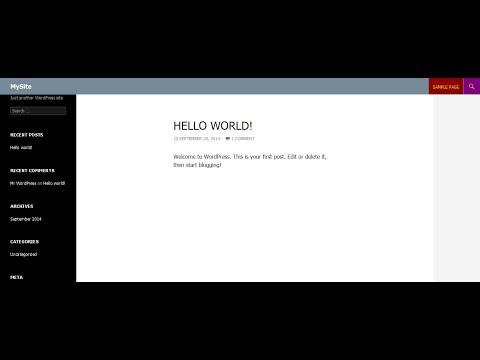 Wordpress 4.0 theme tutorial - Header and top menu customization.