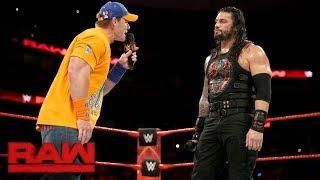 "John Cena Gives Roman Reigns A Lesson In ""failure"": Raw, Sept. 11, 2017"