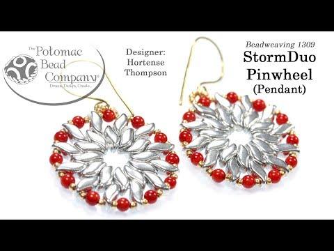 StormDuo Pinwheel Pendant or Earrings