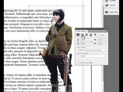 How to Text Wrap and Place a Transparent Image in InDesign