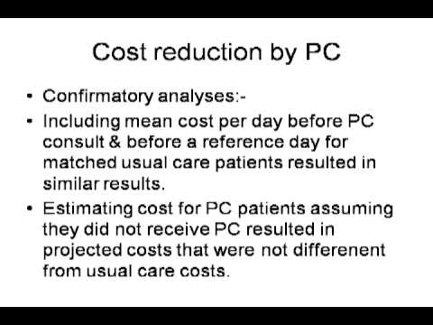 Cost Effectiveness in Palliative Care