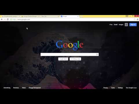 Google parallax background for Chrome