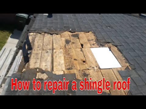 Roof Repair : Repairing a damaged shingles , the best way!!