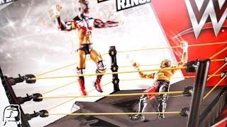 WWE NXT BREAKABLE Ring Mattel Toy Playset Unboxing, Construction & Review!!