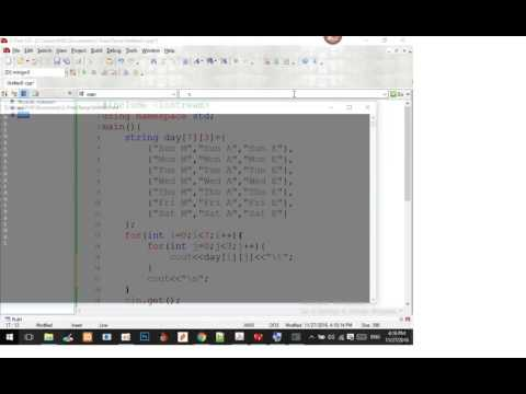 Learn C++ for beginner How to create Array 2D in Table Format - krumony