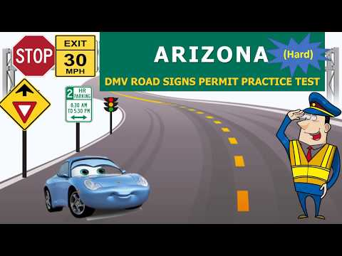 Arizona DMV Road Signs Permit Practice Test (Hard) -  AZ DMV practice test