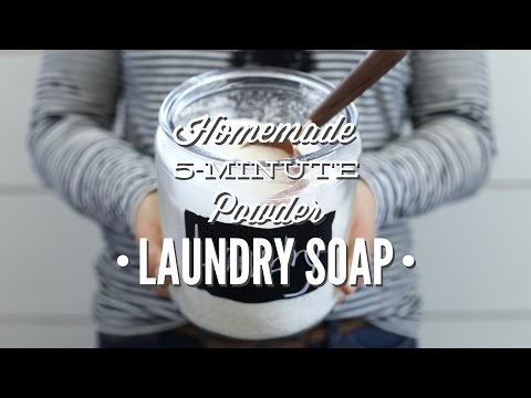 Homemade 5 Minute Powder Laundry Soap