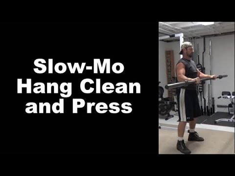 Pump Up Your Shoulders With Slow-Mo Hang Clean and Press
