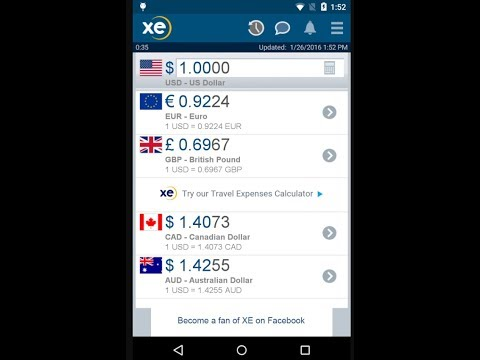 Check out live currency exchange rates at your fingertips