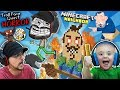 TROLL FACE QUEST Horror 1 LAVA Vs HELLO NEIGHBOR MINECRAFT W Shawn FGTEEV Boys