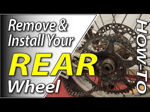 How To Remove & Install The Rear Wheel On Your Dirt Bike | Fix Your Dirt Bike.com