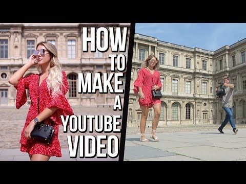 BEHIND THE SCENES | Making Of A YouTube LOOKBOOK Video | PARIS
