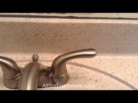 Restoring cultured marble sinks