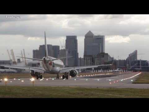 Embraer 190 Just Alitalia stunning takeoff from London City Airport