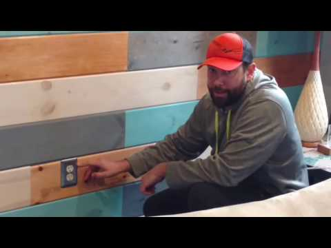 Wood Panel Wall Using Tongue and Groove