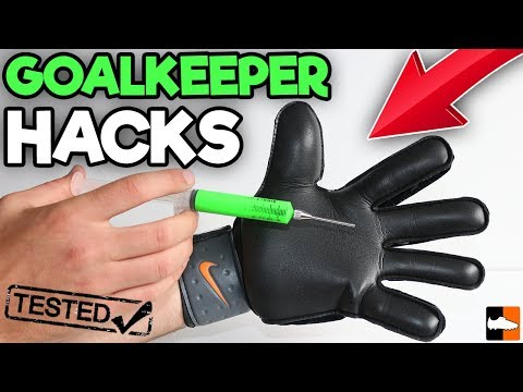 Goalkeeper Hacks Tested!! 🧤⚽ How To Make Your Gloves Ultra-Sticky!