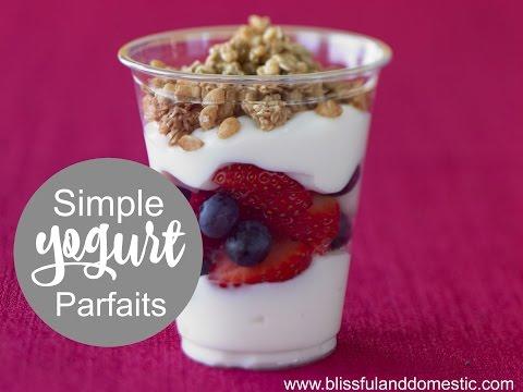 Simple Yogurt Parfaits - McDonald's Knock off