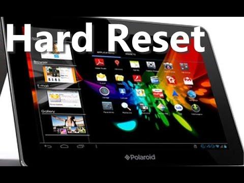 Hard Reset Pad Polaroid فورمات تابليت