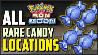 All Rare Candy Locations in Pokemon Sun and Moon