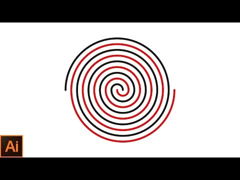 How to draw a perfect spiral in adobe illustrator Adobe Illustrator CC 2017 Tutorial