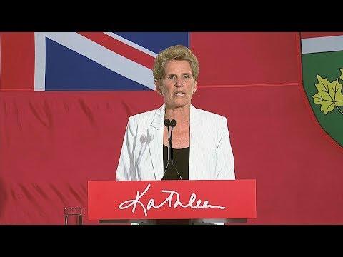 Kathleen Wynne steps down as leader of Ontario Liberals