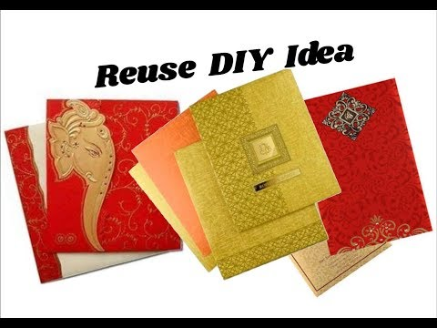 Reuse idea with wedding cards | Making Jhumkas