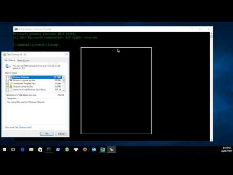 Microsoft Windows cleanmgr.exe command