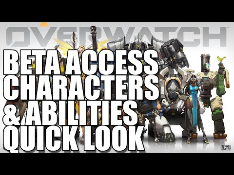 Overwatch Beta Characters & Abilities 1080p 60FPS Lossless