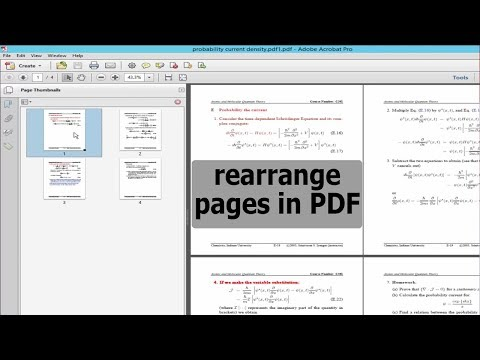 PDF Tutorial- How to rearrange pages in PDF document by using adobe acrobat pro